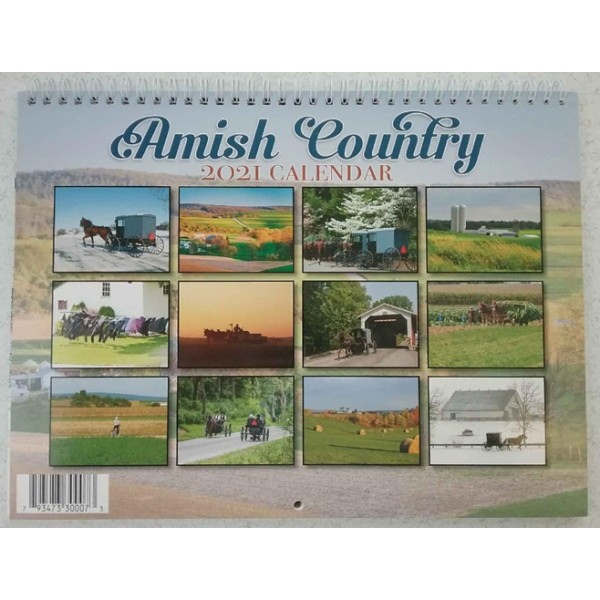 amish country, 2021 calendar