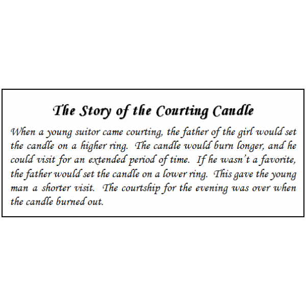 courting candle, amish candle, souvenir, candle, courting candle story
