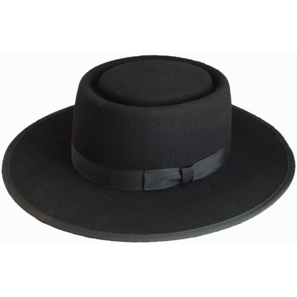 amish black felt hat, authentic, amish hat