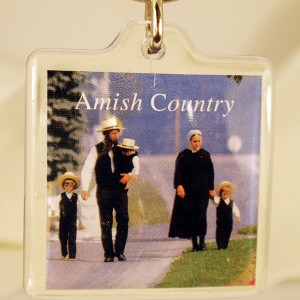 amish country, lucite keyring
