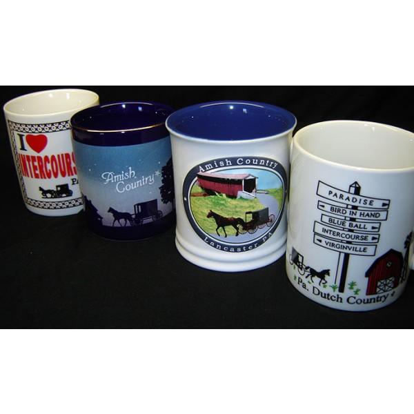 dutch haven, ceramic mugs, set