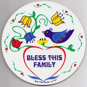 amish, hex sign, bless this family