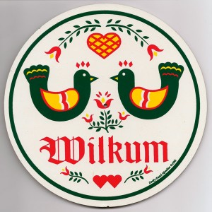 amish, hex sign, double welcome, wilkum