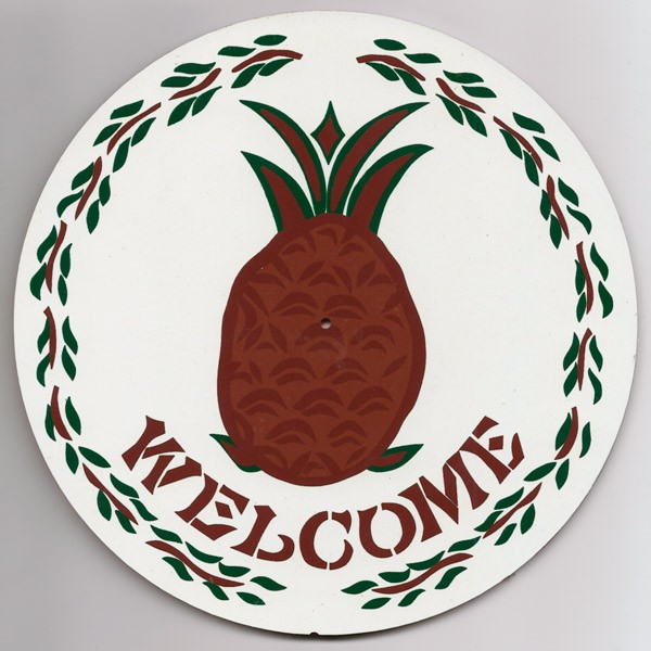 amish, hex sign, hospitality & welcome brown