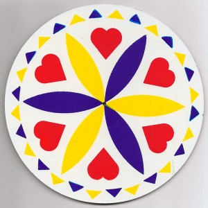 amish, hex sign, love and romance, yellow