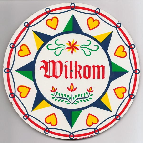 amish, hex sign, wilkom, welcome