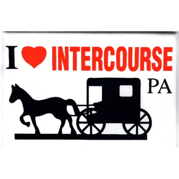 i heart intercourse pa, horse & buggy, magnet