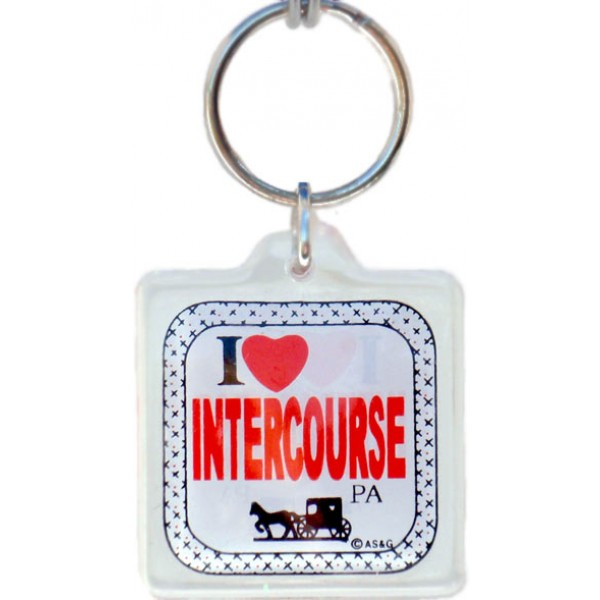 i love intercourse pa, lucite keyring