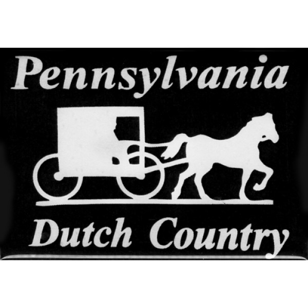 pennsylvania dutch country, horse & buggy, magnet