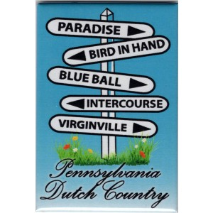 pennsylvania, dutch country, road sign, magnet