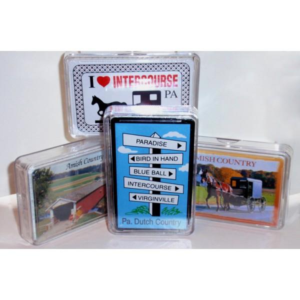 amish, souvenir, playing cards