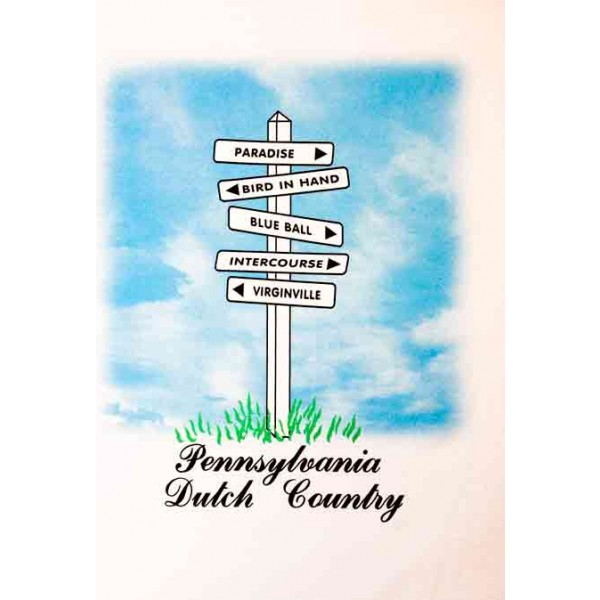 pennsylvania, dutch country, road sign, t-shirt