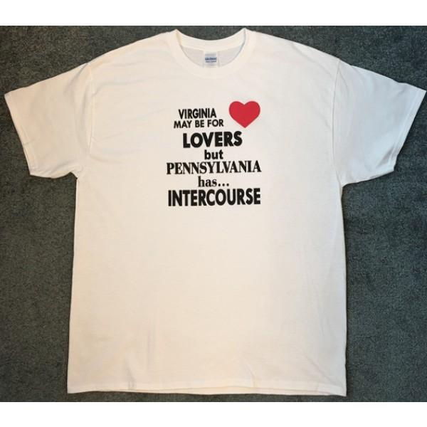 virginia, pennsylvania, lovers, intercourse pa, white, t-shirt,