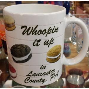 lancaster county, whoopin mug, whoopie pie, mug, front